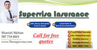Supervisa & Visitor Insurance Free quotes 587-718-8001