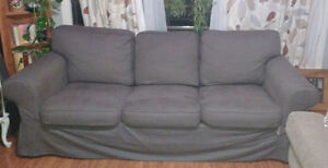 Ikea Ektorp Sofa - Dark Gray Cover Cambridge Kitchener Area image 1