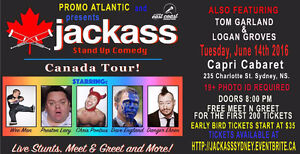 JACKSSS CANADIAN COMEDY STUNT TOUR HITS SYDNEY