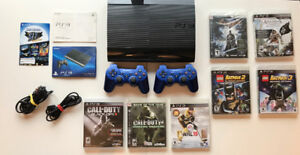 PS3 - 500GB MINT -  2 CONTROLLERS, 7 GAMES