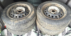 """14"""" Steel Wheels 4x100 5.5Jx14 With Tires 175/65R14 Stratford Kitchener Area image 2"""