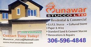 All types of stucco available