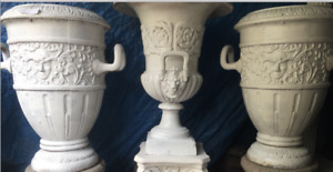 Beautiful Variety of Cast Iron Planters / Urns Garden Birdbath