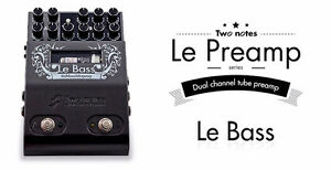 Two Notes Preamp Pedal A Lampes Bass- Clean-Crunch -Lead