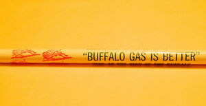 rare BUFFALO GAS ADVERTISING PENCIL SIGN Never Used oil can Regina Regina Area image 2