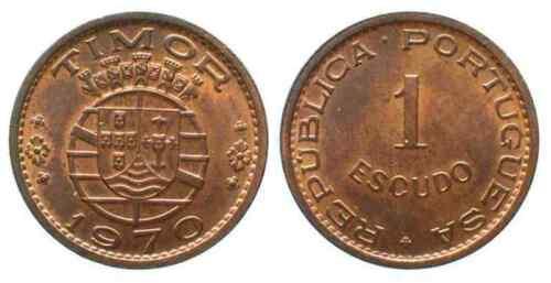 TIMOR: 1970 UNCIRCULATED PAIR, 0.50 & 1 ESCUDO