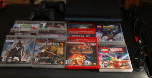 Playstation 3 : Ps3 2 controllers 13 games