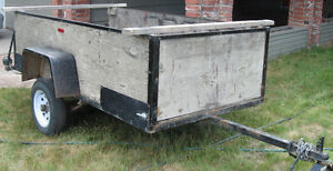 4 X 8 Utility Trailer with boat rack