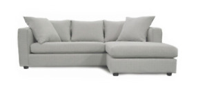 Zone maison, divan sofa sectionel L couche gris grey 2017