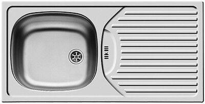 Küchenspüle Edelstahl CA1 (86 x 43,5 cm), 1 Becken mit Überlauf