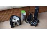 Xbox 360, 2 x controllers and 29 games