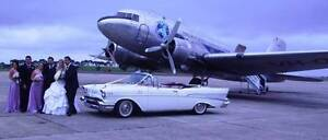 57 CHEVY CONVERTIBLE & SEDAN WEDDING CAR HIRE MELBOURNE. Airport West Moonee Valley Preview