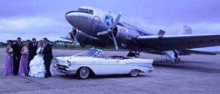 1957 CHEVY CONVERTIBLE, SEDAN & COUPE WEDDING CAR HIRE MELBOURNE.
