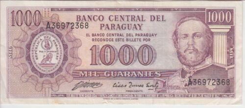 PARAGUAY P201b-MC 219b-2318 1000 1.000 1,000 GUARANIES, SIG CACERES-FERREIRA, VF