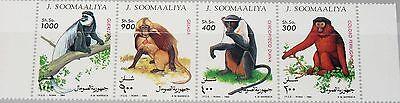 SOMALIA 1994 520-23 Affen Apes Fauna Monkeys Tiere Animals Guereza Dschelada MNH