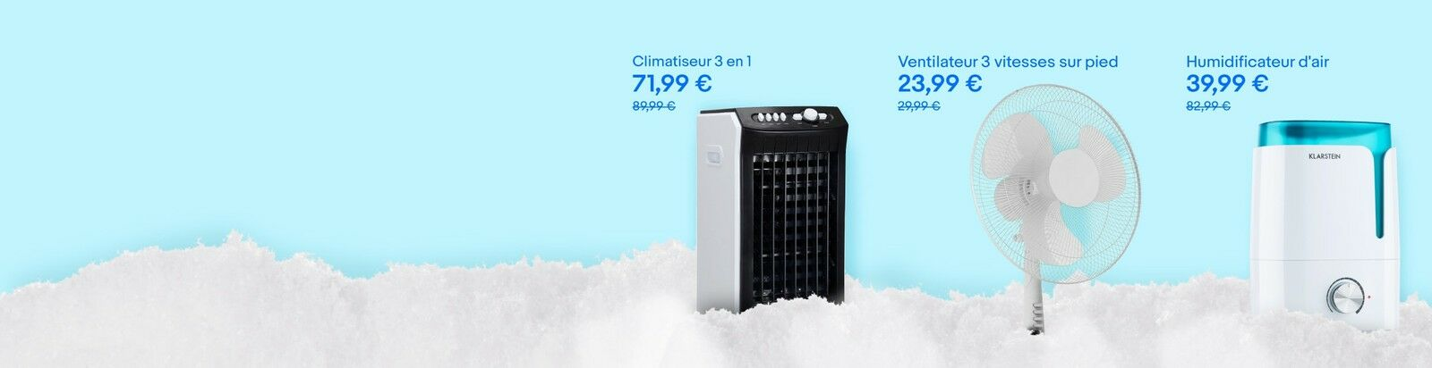 Ventilateurs, climatiseurs en promo - Jusqu'à 40% de réduction