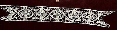 Handmade Belgian needle lace wide insert border