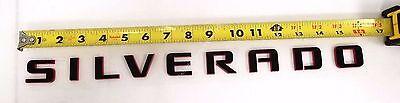 84306694 OE GM Silverado Door or Tailgate Black Silverado Nameplate with Redline