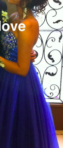 BEAUTIFUL ROYAL BLUE PROM DRESS, LIKE NEW