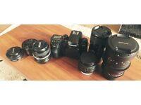 Samsung NX1 (4K - 28.2 megapixel APS-C BSI-CMOS sensor) + 3 Lenses + Bag