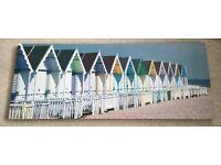 Printed beach hut canvas
