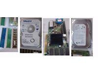Job lot of computer parts HDD Hard Drive Memory card Etc