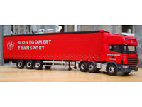 Corgi CC12916, Scania Topline Curtainside - Montgomery Transport, 1:50