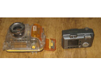 Canon Powershot A40 with underwater case