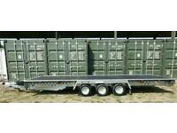 CAR TRANSPORTER TRAILER WOODFORD FLAT BED TILT RECOVERY FARM MACHINE VAN 16 x7'3