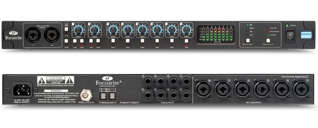focusrite octopre mkii 8 channel microphone preamplifier with adat optical output in broomhill. Black Bedroom Furniture Sets. Home Design Ideas