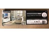 SANUS WSS22-W2 Floorstand Pair for Sonos Play 1/3