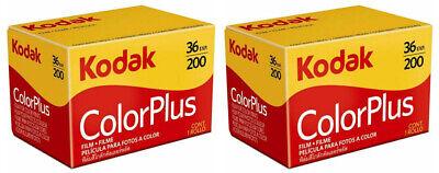 2 x rolls KODAK COLORPLUS 200 35mm Film 36exp CAMERA LOMOGRAPHY (UK Stock) BNIB