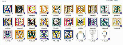 AlphaFont 1 - Over 200 Font/Alphabet Embroidery Design Sets - 10 Formats CD/USB