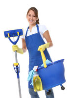 A female helper for cleaning and painting