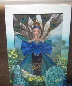 BEAUTIFUL RARE PEACOCK BARBIE $55