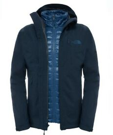 Blue/grey North Face Mens ThermoBall Triclimate Jacket (Large), tags still on - £130