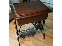 Rare Beautiful Antique Singer Sewing Machine Table A Useful small Table / Workstation