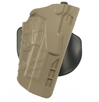 Safariland 7378-283-551 FDE Brown STX RH ALS Open Top Paddle Holster Glock 19