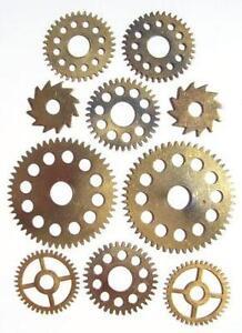 Steampunk Gears Altered Art Amp Collage Ebay