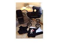 Baby style Babystyle lux prestige classic bouncy Pram pushchair chrome