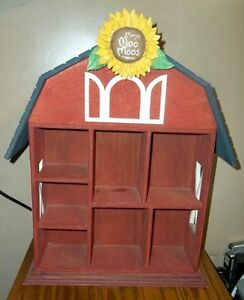 Mary's Moo Moos Large Wooden Barn Display by Enesco London Ontario image 1