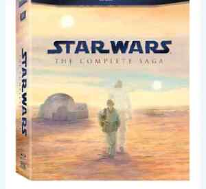 STAR WARS COMPLETE BLU RAY BOX SET 80$