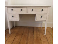 White solid wooden pine dressing table work art station desk