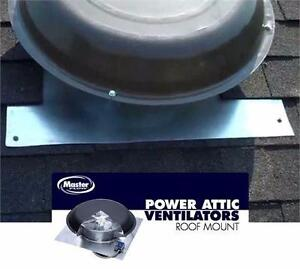 NEW* MASTER FLOW POWER ROOF VENT SHINGLE MATCH WEATHERWOOD - ELECTRIC HOME IMPROVEMENT ROOFING 82619880