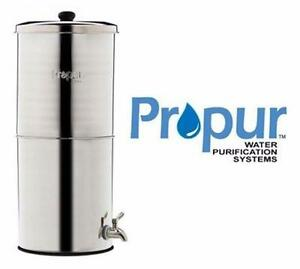 NEW* SS GRAVITY FED WATER FILTER Water Filtration System - Propur 304 BIG POLISHED - KITCHEN  MANUAL 89368167