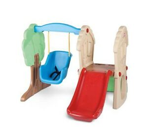 Little tikes hide and seek climber with slide and swing