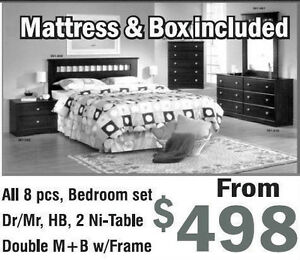 ★★★Today SALE GET THIS 8PC BEDROOM SET WITH MATTRESS only $498