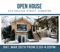 OPEN HOUSE - 414 College Street, KIngston