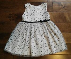 Carter's White & Black Polka Dot Dress (Size 12M)