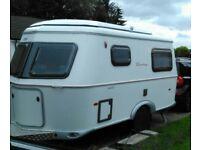 Eriba Familia 320 caravan, awning & sun canopy